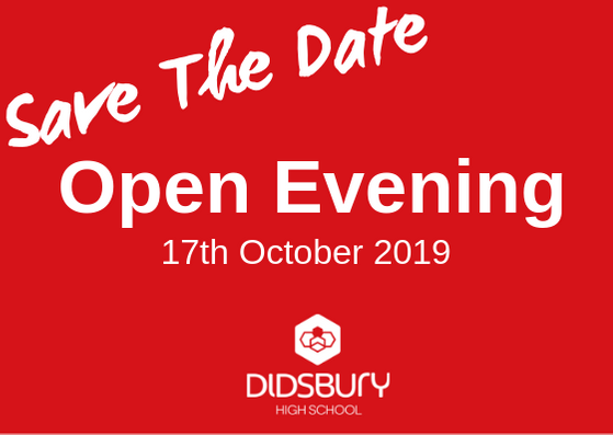 Date for your diary: Didsbury High School open evening