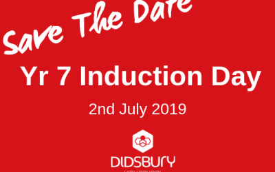 Induction Day for students joining Didsbury High School in September 2019