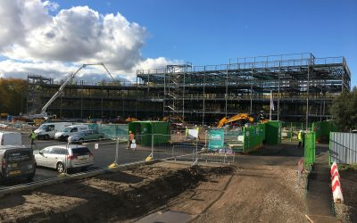 Didsbury High School's main building is starting to take shape